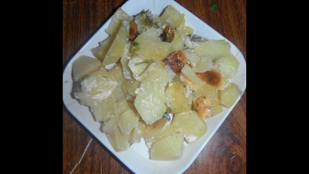 Картофель с плавленным сыром в духовке