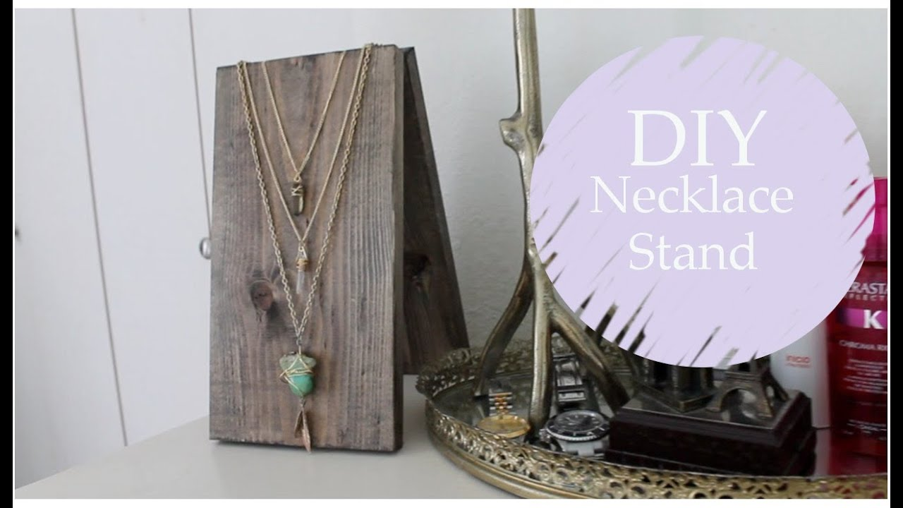 How To Make A Necklace Display Stand Hinged Necklace Stand DIY part 40 YouTube 4