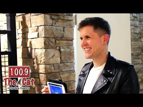 Trent Harmon with 100.9 The Cat's KC & Kelly