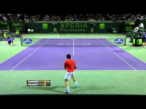 Djokovic vs Monaco Miami Semi Final 2012 HD