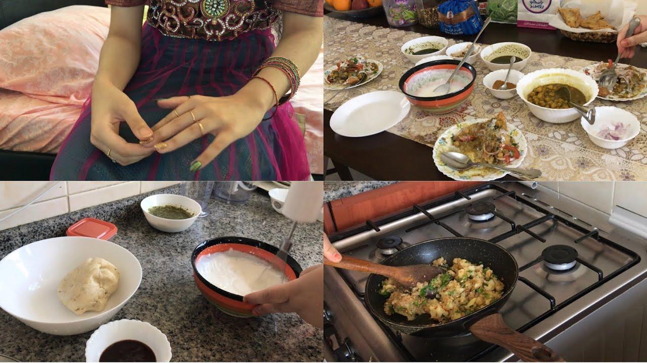 Mein apna face kio nhi show karti~Aj hum kisi k ghar bday party p gaye, samosa chat recipe