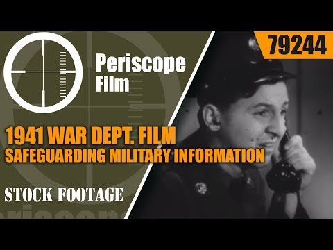 1941 WAR DEPT. FILM   SAFEGUARDING MILITARY INFORMATION w/ EDDIE BRACKEN & GINGER ROGERS 79244