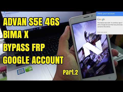 Bypass Frp Advan Vandroid S5E 4GS LTE BIMA X S5060 Remove Google Account Tanpa Box