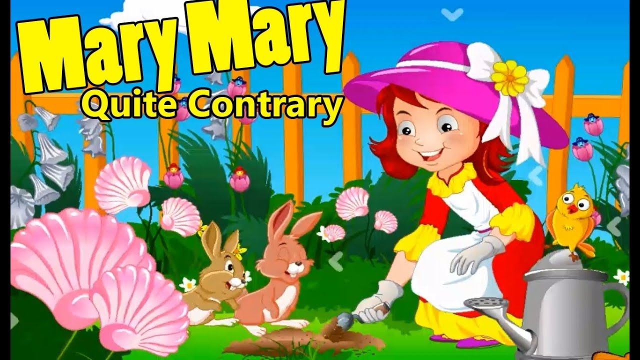 Kids Songs Mary Mary Quite Contrary Song Nursery Rhymes For Kids Baby & Children - YouTube
