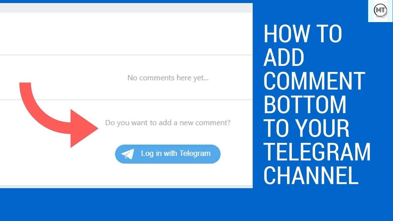 HOW TO ADD COMMENT BOTTOM TO YOUR TELEGRAM CHANNEL