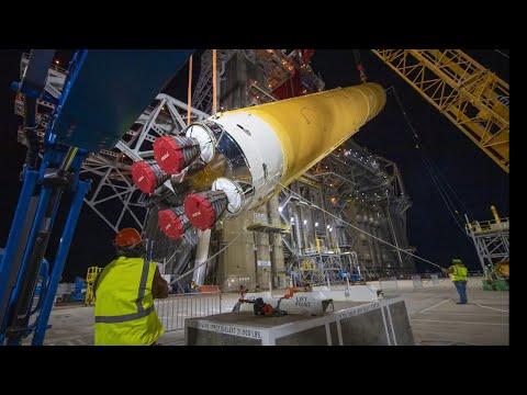 SLS Artemis Moon Rocket Moved To Stennis For Test Firing
