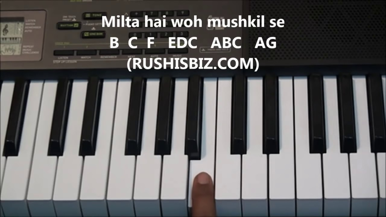 Kal ho naa ho full song piano notes tutorials youtube kal ho naa ho full song piano notes tutorials hexwebz Images