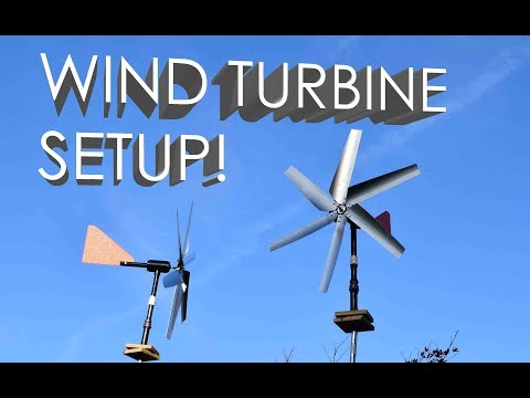 Wind Turbine Experimental Renewable Energy System Build