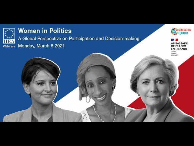 IIEA Webinar: Women in Politics, 'A Global Perspective on Participation and Decision-making