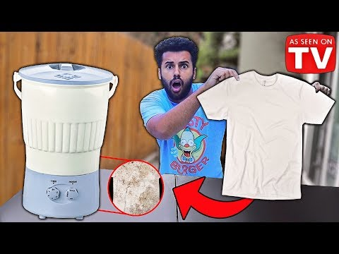Testing UNBELIEVABLE Survival AS SEEN ON TV Products!! (PORTABLE WASHER!) *DOOMSDAY PREPPERS*