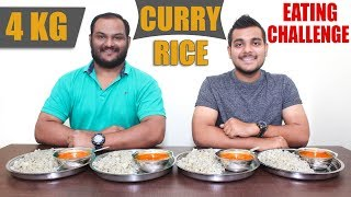 MASSIVE 4 KG CURRY RICE EATING CHALLENGE | Dal Fry & Jeera Rice Eating Competition | Food Challenge