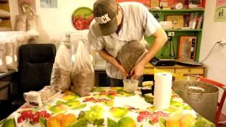 шиитаке, изготовление грибных блоков 1