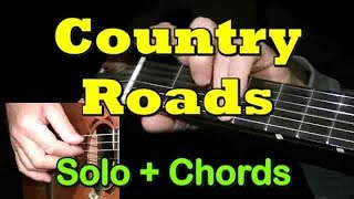 COUNTRY ROADS: Easy Guitar Lesson + TAB + CHORDS by GuitarNick Mp3
