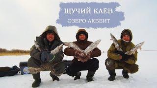 НЕ УСПЕВАЕМ СТАВИТЬ ЖЕРЛИЦЫ ПОКЛЁВКА ЗА ПОКЛЁВКОЙ Рыбалка на озере Акбеит