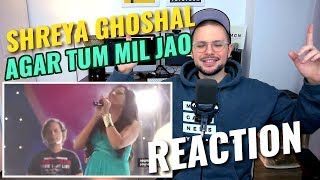 Shreya Ghoshal - Agar Tum Mil Jao   live at Sony Project Resound Concert   REACTION