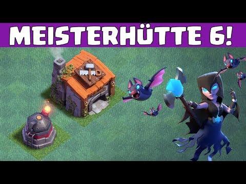 MEISTERHÜTTE 6! NACHTHEXE & BRUTZLER! || CLASH OF CLANS - Update [Deutsch German]