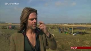Headteacher Mike Fairclough sends viewers into a frenzy - BBC TV News