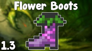 Terraria 1.3 - Flower Boots , Infinite Hay & Bait!? - Terraria 1.3 Super Useful Accessory!
