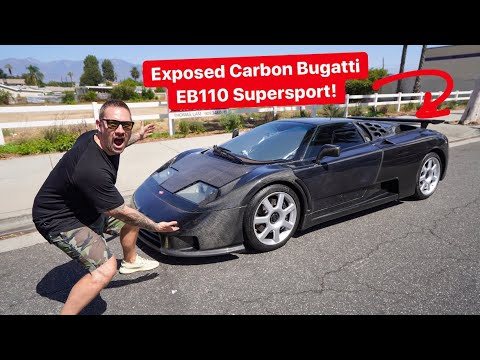 THE MILLION DOLLAR CAR BUGATTI FORGOT TO PAINT! *EXPOSED CARBON*