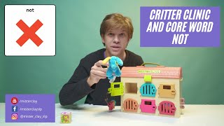 Looking in the Critter Clinic and using core word NOT/ Educational Video with Fluent AAC