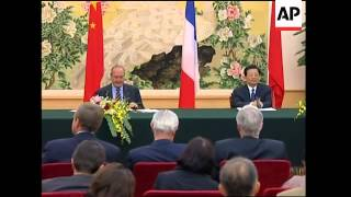 Chirac meets Hu, comments from leaders