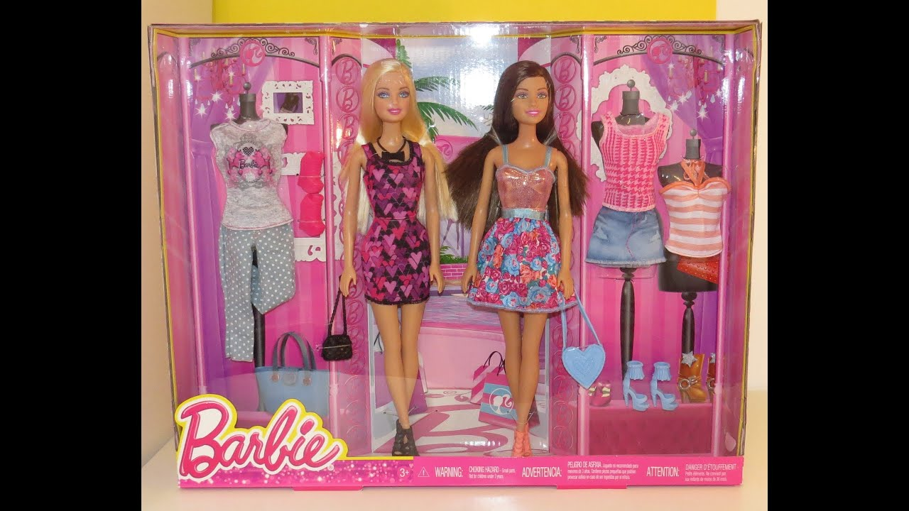 Barbie And Teresa Fashion Giftset Dolls Videos Fashion Show Catwalk Shopping Toys Youtube