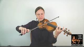 Violin Christmas Music – Away in a Manger - Miss Laura, Online Violin Teacher