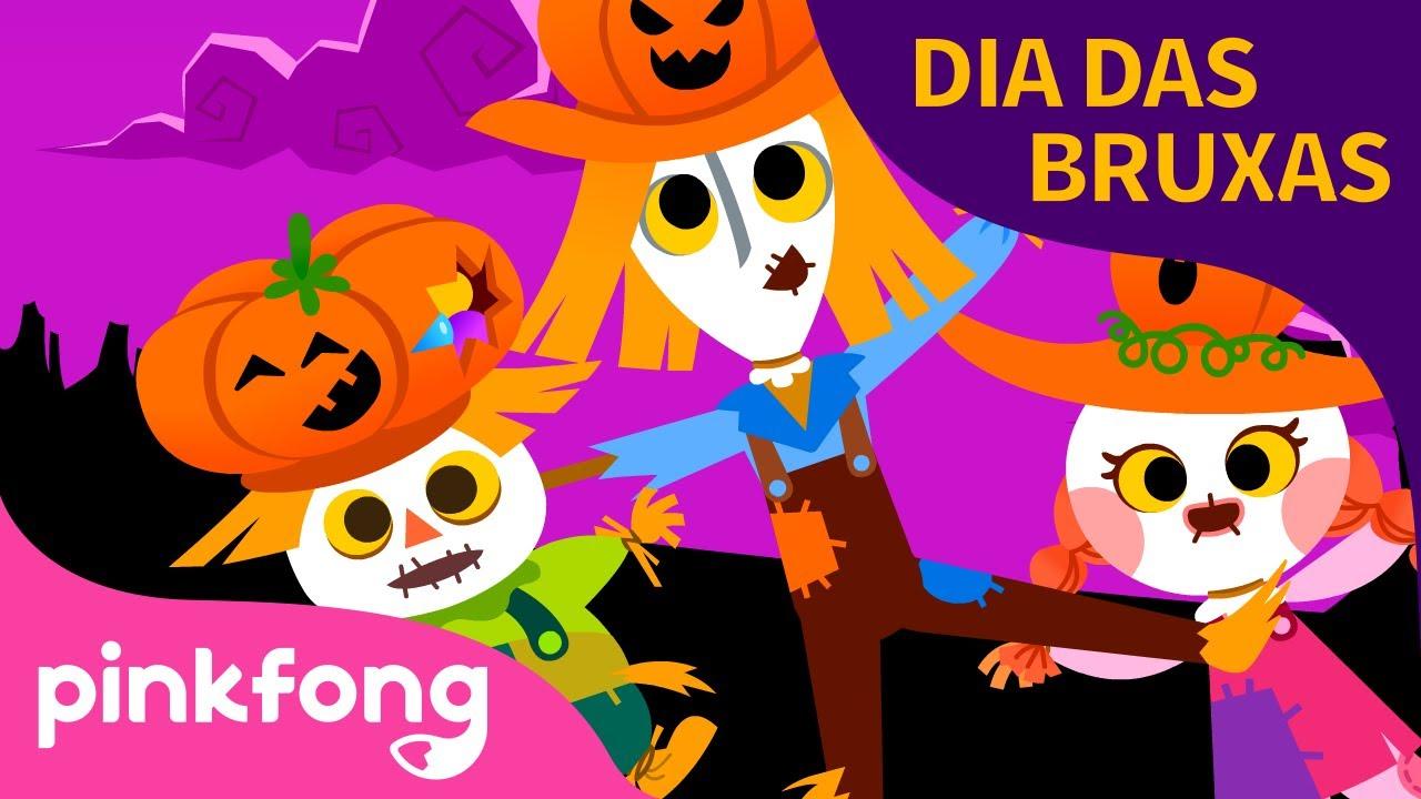 Três Espantalhos   Halloween   Canções do Dia das Bruxas   Pinkfong Canções para crianças
