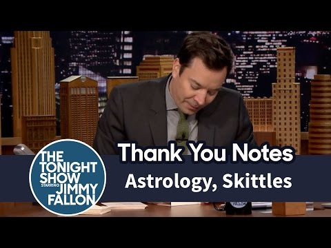 Thank You Notes: Astrology, Skittles