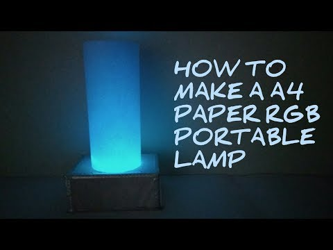 How to make a A4 paper RGB portable lamp | diy | wireless w
