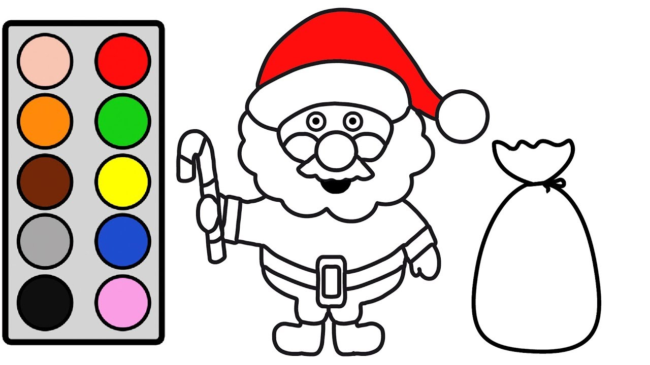 Coloring For Kids With Christmas Santa Claus   Coloring Page For Toddlers