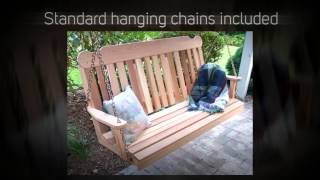 Creekvine Designs Classic Red Cedar Porch Swing
