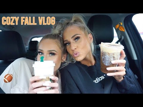 FALL VLOG- Football Food, Homegoods & Marshalls Haul, Starbucks Pumpkin Drinks🎃