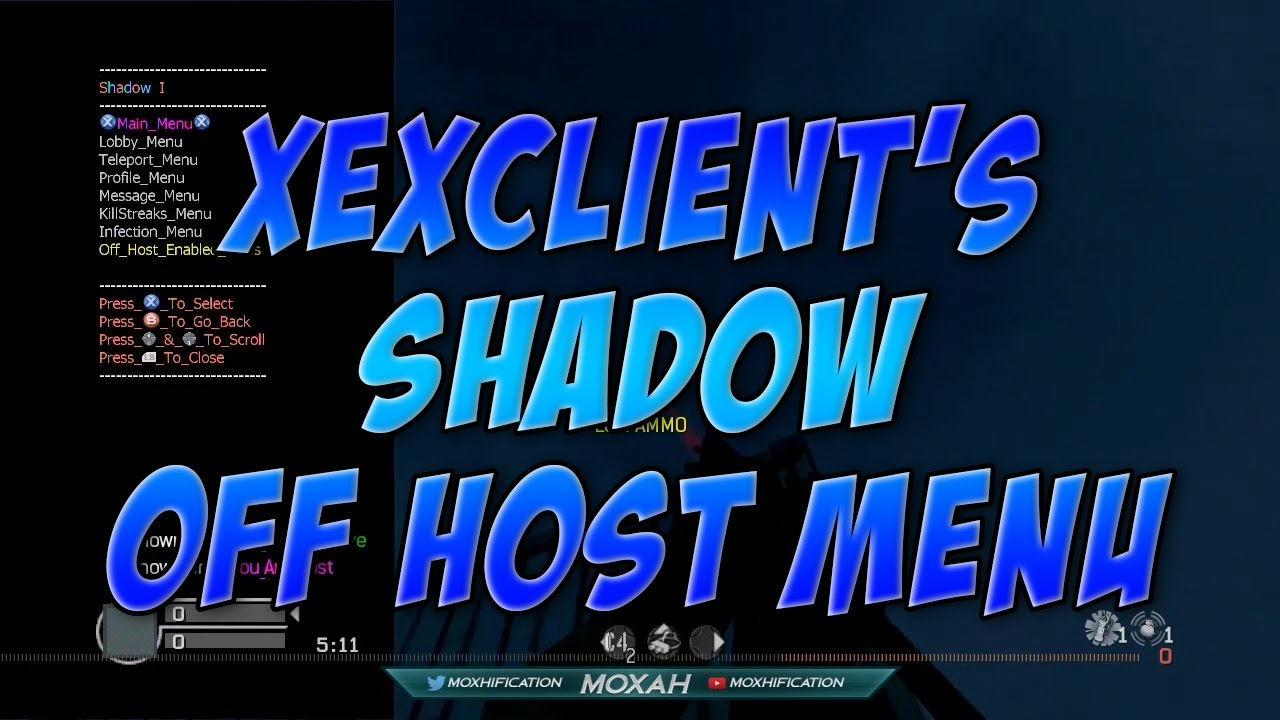 COD4 | TU4 | XeXClient's Shadow Off Host R2R Mod Menu | With On Host Menu |  +Download