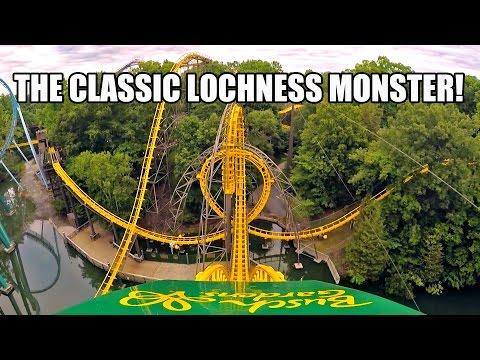 Loch Ness Monster Roller Coaster POV Classic Arrow Dynamics Coaster Busch Gardens Williamsburg