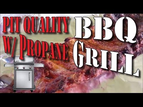 Smoking meat with a propane grill PIT QUALITY RESULTS