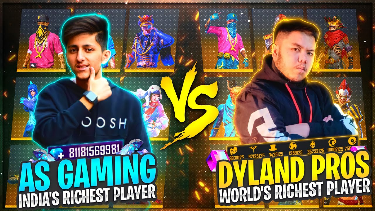 Download As Gaming Vs Dyland Pros Richest Collection Versus Of Free Fire   Who Will Win? - Garena Free Fire