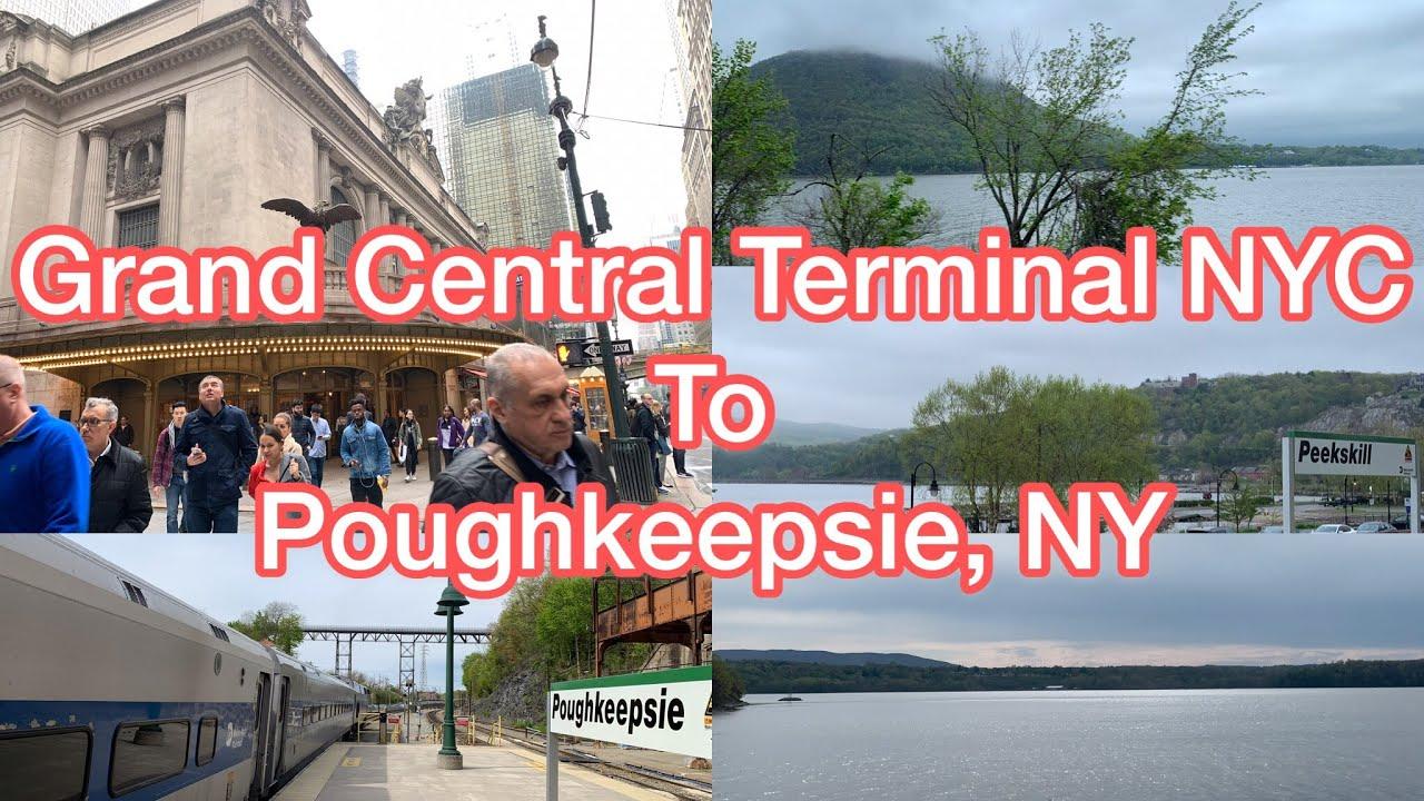 Metro-North Train Ride: Grand Central Terminal New York City (NYC) to  Poughkeepsie, New York, USA