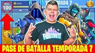 COMPRO PASE DE BATALLA A NIVEL100 EN FORTNITE!!!temporada 7