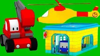 Больница с Малышами-грузовичками: бульдозер, кран, экскаватор, обучающий мультфильм