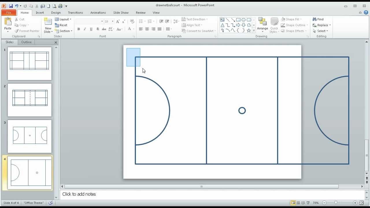 netball court measurement diagram three point turn step 2 in using powerpoint to draw a scale youtube