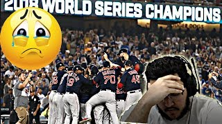YANKEE FAN REACTS TO THE RED SOX WIN THE WORLD SERIES.....
