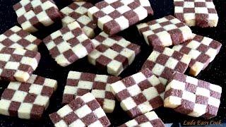 ВКУСНОЕ ПЕЧЕНЬЕ Ванильно-шоколадное шахматное печенье. Очень просто и вкусно.