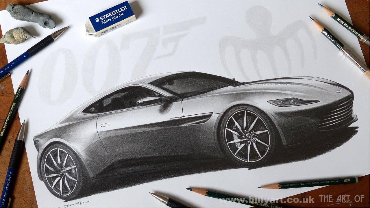 James Bond Car Wallpaper Drawing The Aston Martin Db10 From The James Bond 007