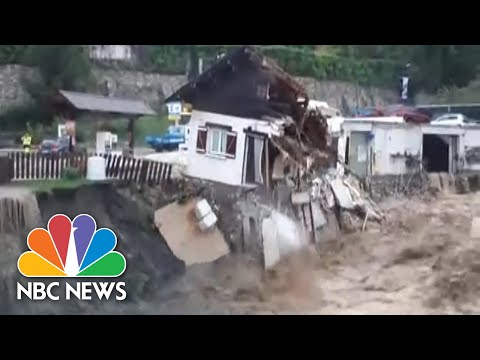 Freak Floods In France Wash Away Roads And Houses | NBC News