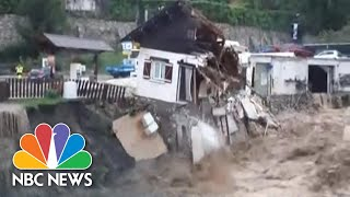 Freak Floods In France Wash Away Roads And Houses   NBC News