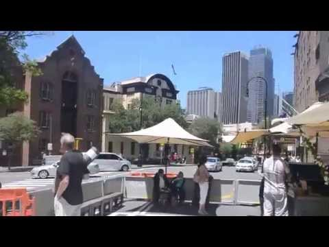 The Rocks,market w Sydney i Port Jackson
