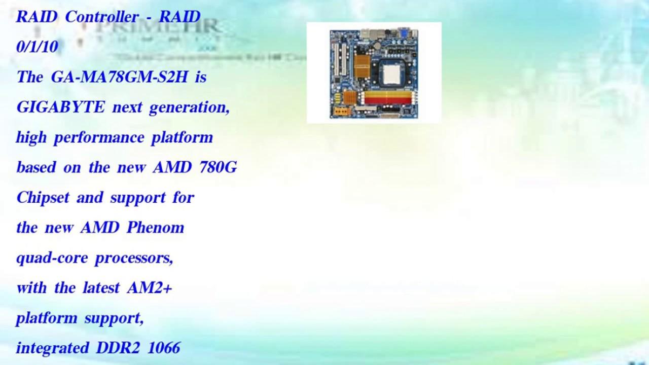 GA-MA78GM-S2H RAID 64BIT DRIVER