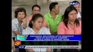 Rehab of road in Anahawan, Southern Leyte