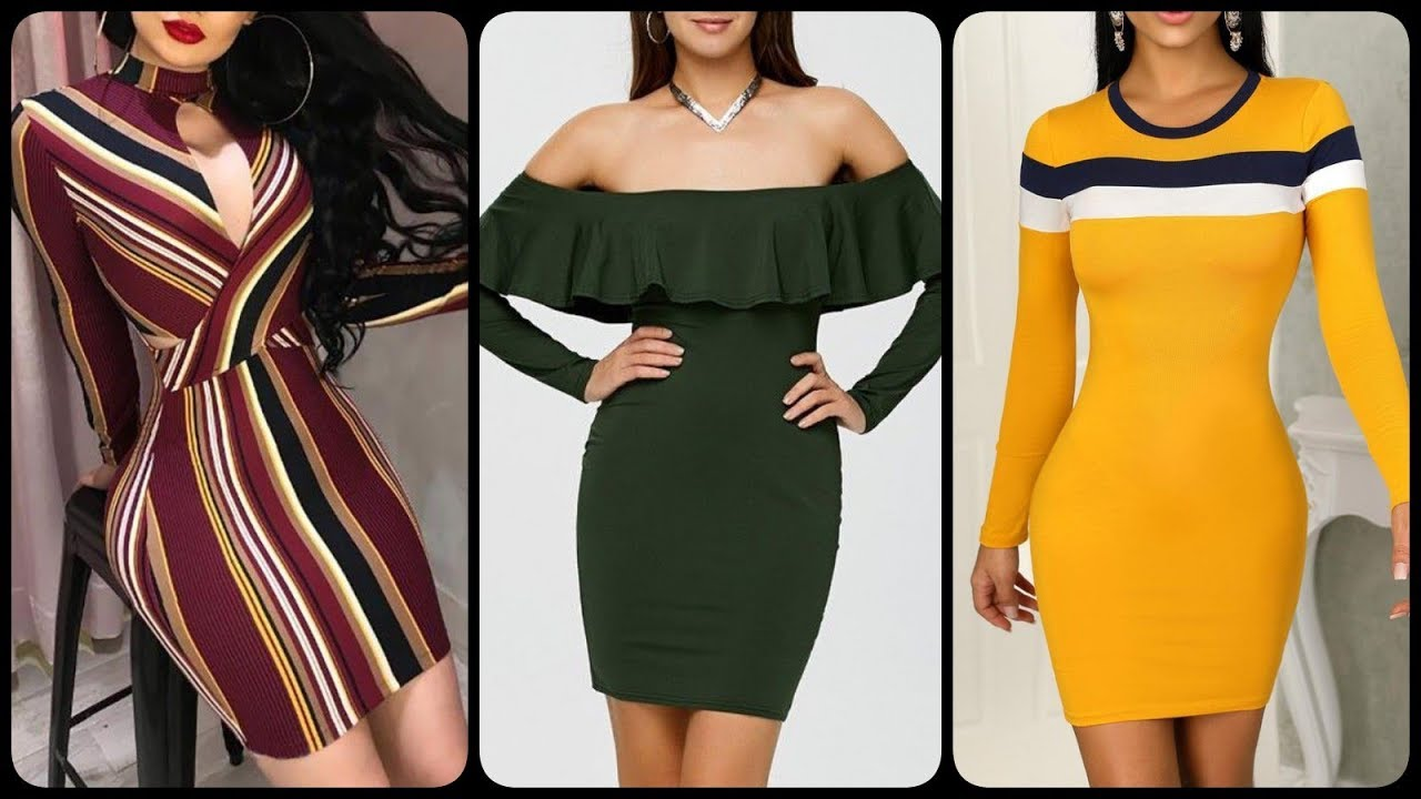 [VIDEO] - casual black boho strapless Bodycon dresses Outfits Design for curvy and different body types 2